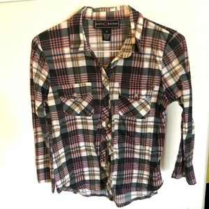 Polly & Ester plaid shirt